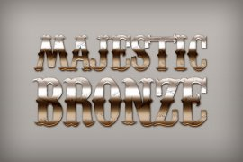 Majestic Bronze Photoshop Style
