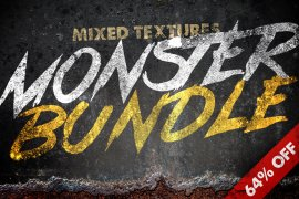 Mixed Textures Monster Bundle 1