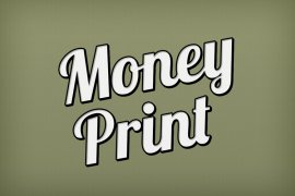 Money Print Photoshop Style