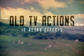 Free Old TV Photoshop Actions