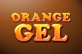 Orange Gel Photoshop Style