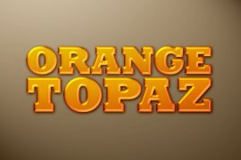 Orange Topaz Photoshop Style
