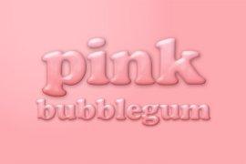 Pink Bubblegum Photoshop Style