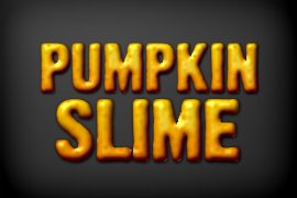 Pumpkin Slime Photoshop Style