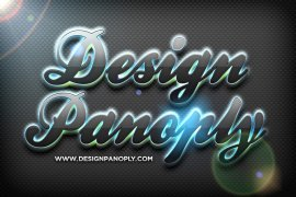 Quick Reflective Glowing 3D Text Effect Project Files