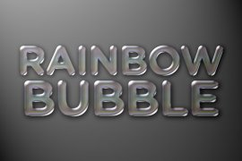 Rainbow Bubble Photoshop Style