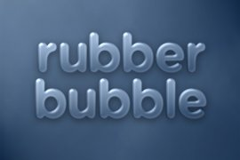 Rubber Bubble Photoshop Style