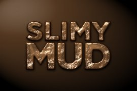 Slimy Mud Photoshop Style