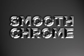 Smooth Chrome Photoshop Style