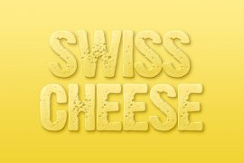 Swiss Cheese Photoshop Style