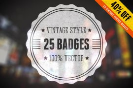Vintage Vector Badges Bundle Volume 1