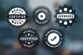 Vintage Circular Badges Vector Pack 4