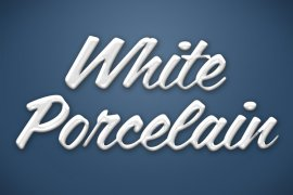 White Porcelain Photoshop Style