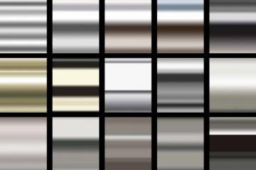 15 Metallic Photoshop Gradients
