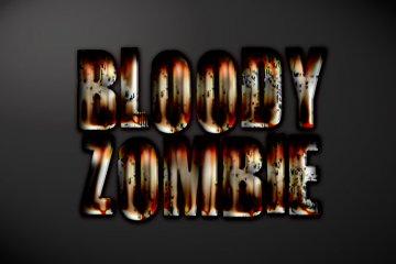 Bloody Zombie Photoshop Style