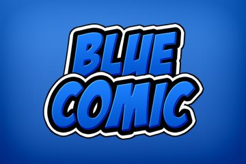 Blue Comic Photoshop Style