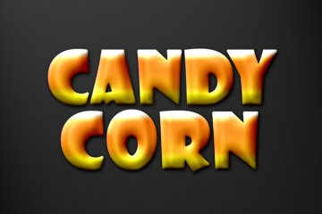Candy Corn Photoshop Style