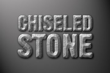 Chiseled Stone Photoshop Style