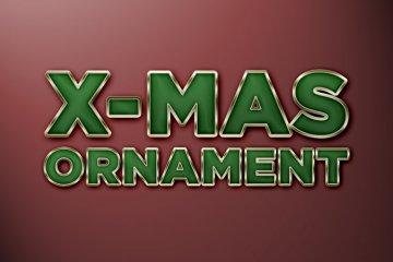 Christmas Ornament Photoshop Style