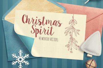 Christmas Spirit Winter Vector Pack Volume 1
