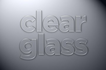 Clear Glass Photoshop Style