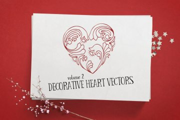 Decorative Heart Vectors Volume 2