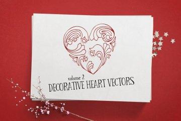 Decorative Heart Vectors Volume 2