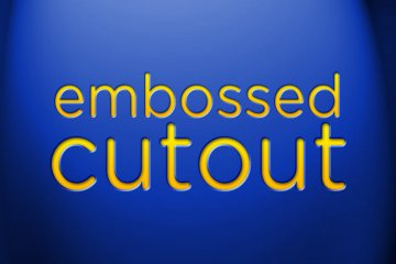 Embossed Cutout Photoshop Style