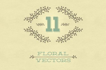 Floral Vector Pack 4