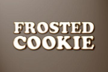 Frosted Cookie Photoshop Style