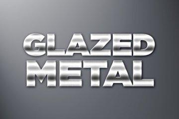 Glazed Metal Photoshop Style