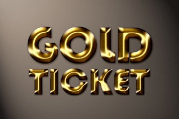 Golden Ticket Photoshop Style