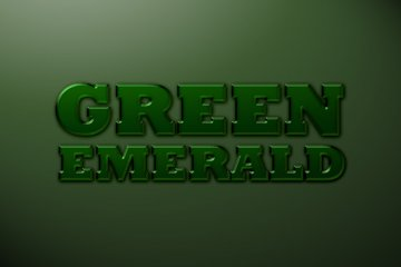 Green Emerald Photoshop Style