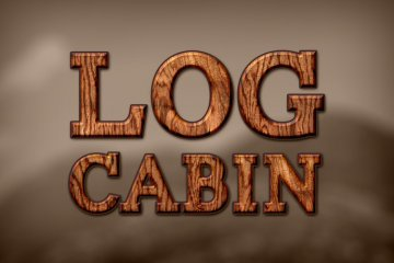 Log Cabin Photoshop Style