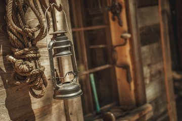 Old Hanging Oil Lantern