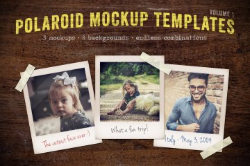 Polaroid Mockup Templates Volume 1