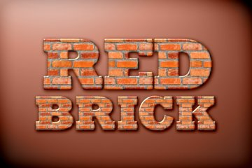 Red Brick Photoshop Style