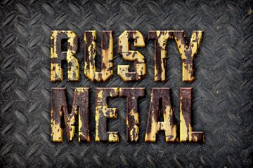 Rusty Metal Photoshop Style
