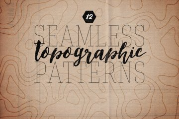 Seamless Topographic Patterns Volume 1