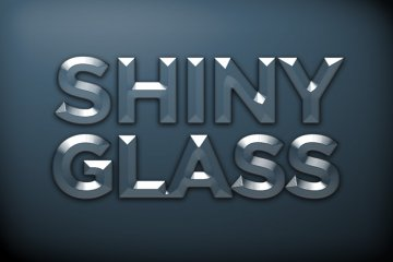 Shiny Glass Photoshop Style