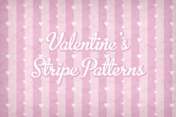 Striped Hearts Valentines Pattern Pack