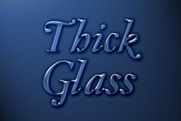 Thick Glass Photoshop Style