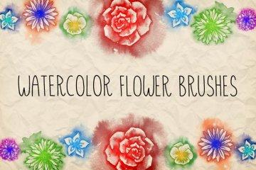 Watercolor Flowers Brush Pack 1