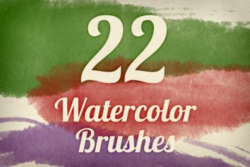 Watercolor Strokes Brush Pack 2