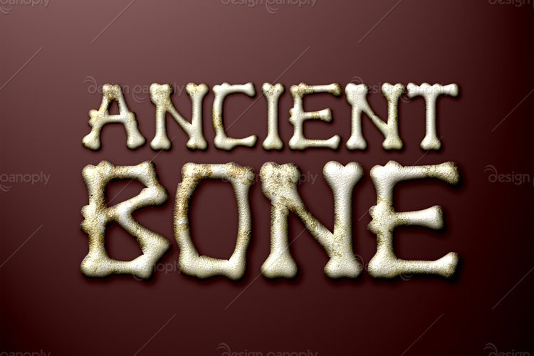 Ancient Bone Photoshop Style
