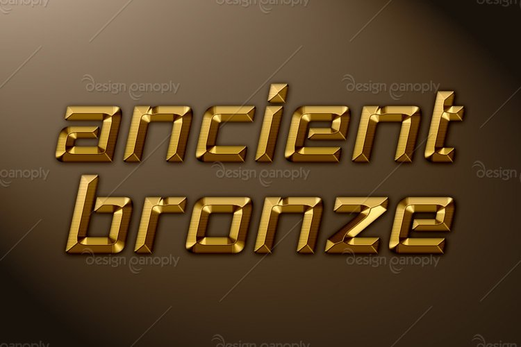 Ancient Bronze Photoshop Style