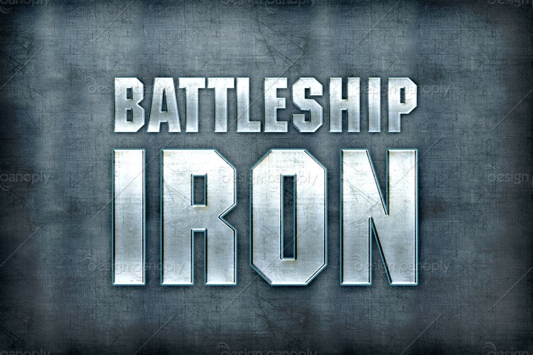 Iron Font Photoshop Battleship Iron Photoshop