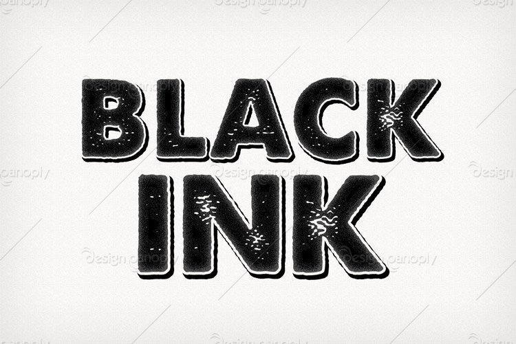 Black Ink Photoshop Style