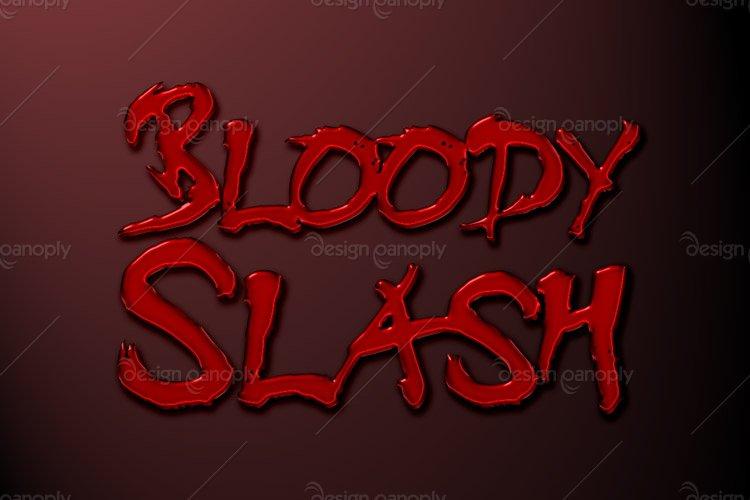 Bloody Slash Photoshop Style