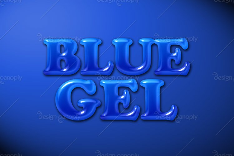 Blue Gel Photoshop Style